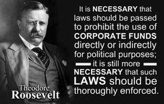 Theodore Roosevelt  (first amendment travesty)
