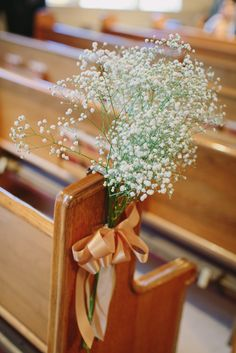 Baby's Breath Aisle Pew Decorations