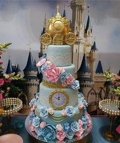 Cinderella Sweet 16, Cinderella Theme, Cinderella Birthday, Cinderella Wedding, Cinderella Quinceanera Themes, Quinceanera Cakes, Disney Themed Cakes, Disney Cakes, Quince Themes