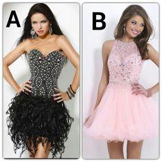 Cual elijes? El A atrevido y sexy!! O el B dulce y romantico?! Strapless Dress Formal, Formal Dresses, Sexy, Fashion, Sweet, Style, Dresses For Formal, Moda, Formal Gowns
