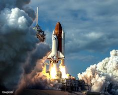 Shop Launch of Space Shuttle Poster created by Space_Exploration. Columbia, United Launch Alliance, Solar System Poster, Johnson Space Center, Space Launch, Cape Canaveral, Kennedy Space Center, Hubble Space Telescope, Nasa Space