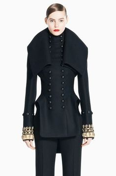 ALEXANDER MCQUEEN MILITARY JACKET COAT JEWELED NEW 44