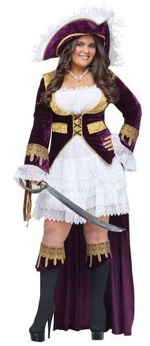 Sexy and Mommy appropriate Caribbean Queen Plus Size Pirate Costume