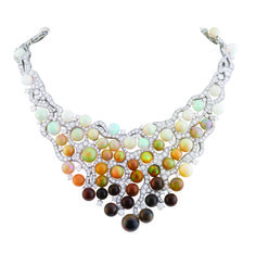 Van Cleef & Arpels  Kazeh necklace from the Les Voyages Extraordinaires collection in Ethiopian opals and diamonds set in platinum