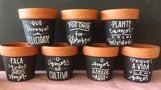 Painted Flower Pots, Painted Pots, Succulents Diy, Planting Succulents, Lettering Tutorial, Hand Lettering, Posca, Terracotta Pots, Clay Pots