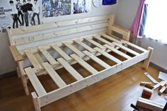 ベッド diy   部屋の広さを考えて ...