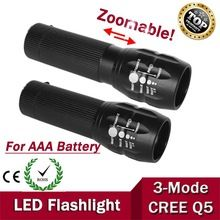 1pcs highlighted  2000Lumens  3-Mode CREE  LED military laser led Flashlight Zoomable Focus Torch  Free shipping(China (Mainland))