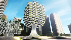 Growing Vertical Urban Skyfarm: Architectural project in korea by Aprilli design studio is presented prototypical plans. For a vertical farm to be built adjacent to the cheonggyecheon stream in dow… Hydroponic Farming, Hydroponic Growing, Hydroponics, Indoor Farming, Futuristic Architecture, Architecture Design, Green Architecture, Amazing Architecture, Biomimicry Architecture