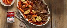 Baked Pork Steak and Potatoes Fresh Easy Slow Cooker Savory Pot Roast Campbells Soup Recipes, Onion Soup Recipes, Pot Roast Recipes, Steak Recipes, Slow Cooker Beef, Slow Cooker Recipes, Cooking Recipes, Easy Recipes, Crockpot Meals