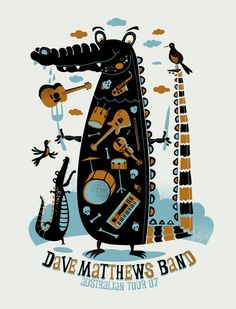 Dave Matthews Band poster by Methane Studios