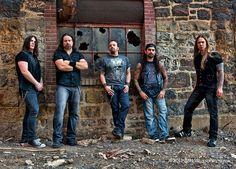 Di Leo, Allen, Orlando, Portnoy, Ward. Original Adrenaline Mob. Shot at the closed down Bethlehem Steel Mill by Joe LaRusso. www.joelarussophoto.
