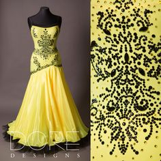 Sassy Yellow Smooth w/ Nude Side & Silver Lace