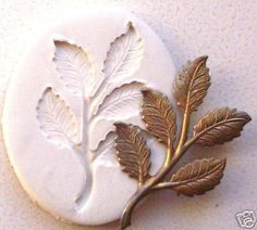 Rose Leaf 5 Leaves on A Stem CNS Polymer Clay Mold   eBay