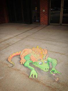 street art by David Zinn (June 16, 2013)