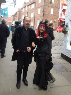 Neo-Victorian couple at Whitby Gothic Festival