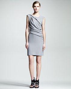T6D1T HELMUT Helmut Lang Flash Twisted Drape Dress