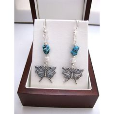 Beaded butterflies! Silver plated butterfly earrings with silver... ($21) ❤ liked on Polyvore featuring jewelry, earrings, beaded earrings, filigree earrings, monarch butterfly jewelry, silver plated jewelry and beaded jewelry