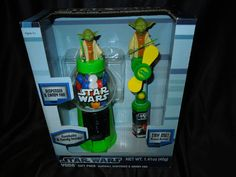 $22.75 free shipping #STARWARS #YODA #Gumball #Dispenser & #Candy #Fan #collectible new in box NEW