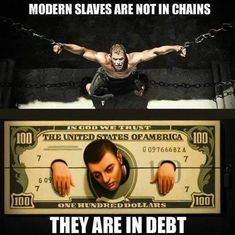Conspiracy theory - distract and weigh down the public with debt. The won't have time to educate and research because they'll be slaves to work and paying off debt. Free Your Mind, Humor, Wall Street, Real Talk, Debt, Life Lessons, Investing, Life Quotes, Inspirational Quotes