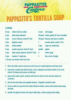 Pappasitos tortilla soup!