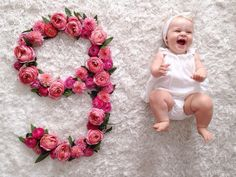 The greatest monthly baby photos ever. JL Designs http://www.jldesignsandevents.com