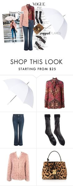 vogue street chic look. by misnik on Polyvore featuring Tory Burch, WithChic, Alexander McQueen, Comme des Garçons, Marc by Marc Jacobs, Mark Cross, Fulton, TrickyTrend, socksandsandals and croppedflares