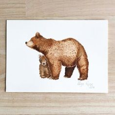 Bear watercolour painting - nursery art, sweet animal art, cute painting. Instagram: @elizarose_art Facebook: @artofelizarose Sweet Animal, Brown Bear, Watercolour Painting, Nursery Art, Facebook, The Originals, Rose, Artist, Prints