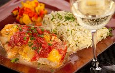 Red Snapper with Mushrooms - from @WineTable #fish #wine