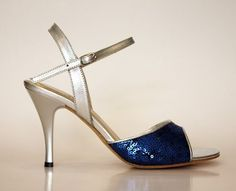 Silver and Blue. #tango #shoe