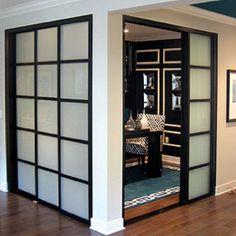 Sliding doors used as room dividers