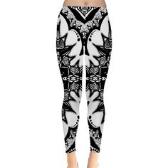 Doodle Cross Leggings ❤ liked on Polyvore featuring pants, leggings, white leggings, white pants, white trousers, light weight pants and stretchy pants