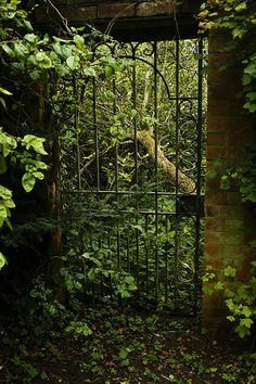 Mysterious gate to secret garden (?) via flickr