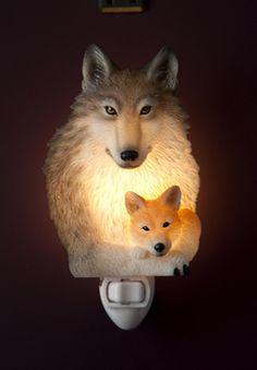 Wolf and Pup Night Light