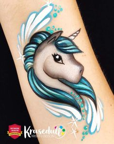 Face Painting Unicorn, Unicorn Face, Belly Painting, Painting Tattoo, Cheek Art, Face Painting Designs, Maquillage Halloween, Hand Art, Face Design