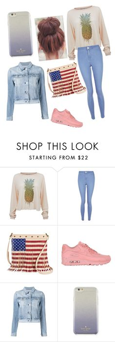 """🍍🍍🍍"" by julcsi9 ❤ liked on Polyvore featuring Wildfox, New Look, Twig & Arrow, NIKE, 3x1 and Kate Spade"