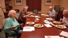 Our resident taste testers at work! These residents pooled from not just The Fairfax, where this event was hosted, but several communities in Virginia. - Sunrise Senior Eats Nutritional Challenge