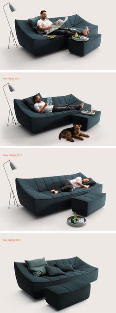 Une canapé multi-fonction.
