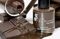 Oh My Ganache! Chocolate Colored Holographic Nail Polish