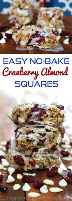 $20 Gift Card Giveaway and No Bake Cranberry Almond Squares