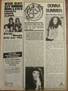 Donna Summer, Full Page Vintage Clipping 1970s Music, Vintage Clip, Pop, Summer, Popular, Summer Time, Pop Music, Summer Recipes