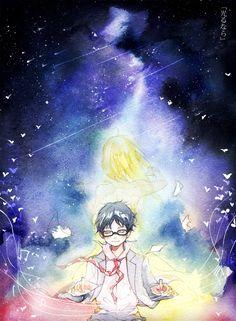 Kousei and Kaori  -  Shigatsu Wa Kimi No Uso