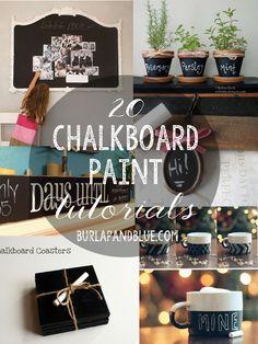 20 Chalkboard Paint Tutorials