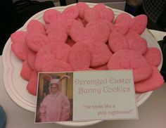 A Christmas Story party: Pink bunny cookies.