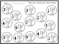 Free Chicka Chicka Boom Boom Roll and color!  Perfect for whole group, small group or math centers!  Great for a CCBB week or unit!