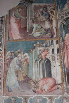 Spinello Aretino - Altare con i SS. Filippo e Giacomo, dettaglio - affresco - Arezzo, chiesa di San Domenico