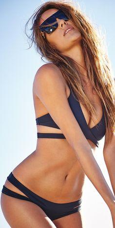 bikini l black 2 piece bathing suit l Lisa Lozano 2015 Cut Out Bikini