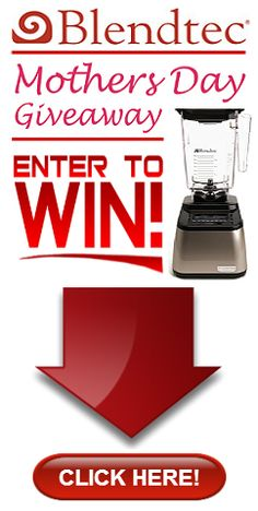 We are giving away a Blendtec's Total Blender Designer Series Blender to a LUCKY Fan for Mothers Day!