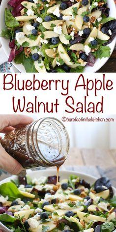Summer Salad Recipes, Healthy Salad Recipes, Diet Recipes, Vegetarian Recipes, Cooking Recipes, Apple Salad Recipes, Green Salad Recipes, Lunch Salad Recipes, Balsamic Salad Recipes