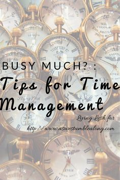 Stressed about how to handle school and a job,while somehow being able to see your loved ones AND sleep more than three hours a night? Here's some tips on great time management-