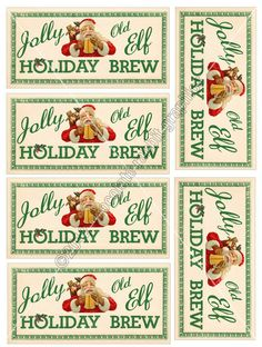 Vintage Christmas Tag Label Printable